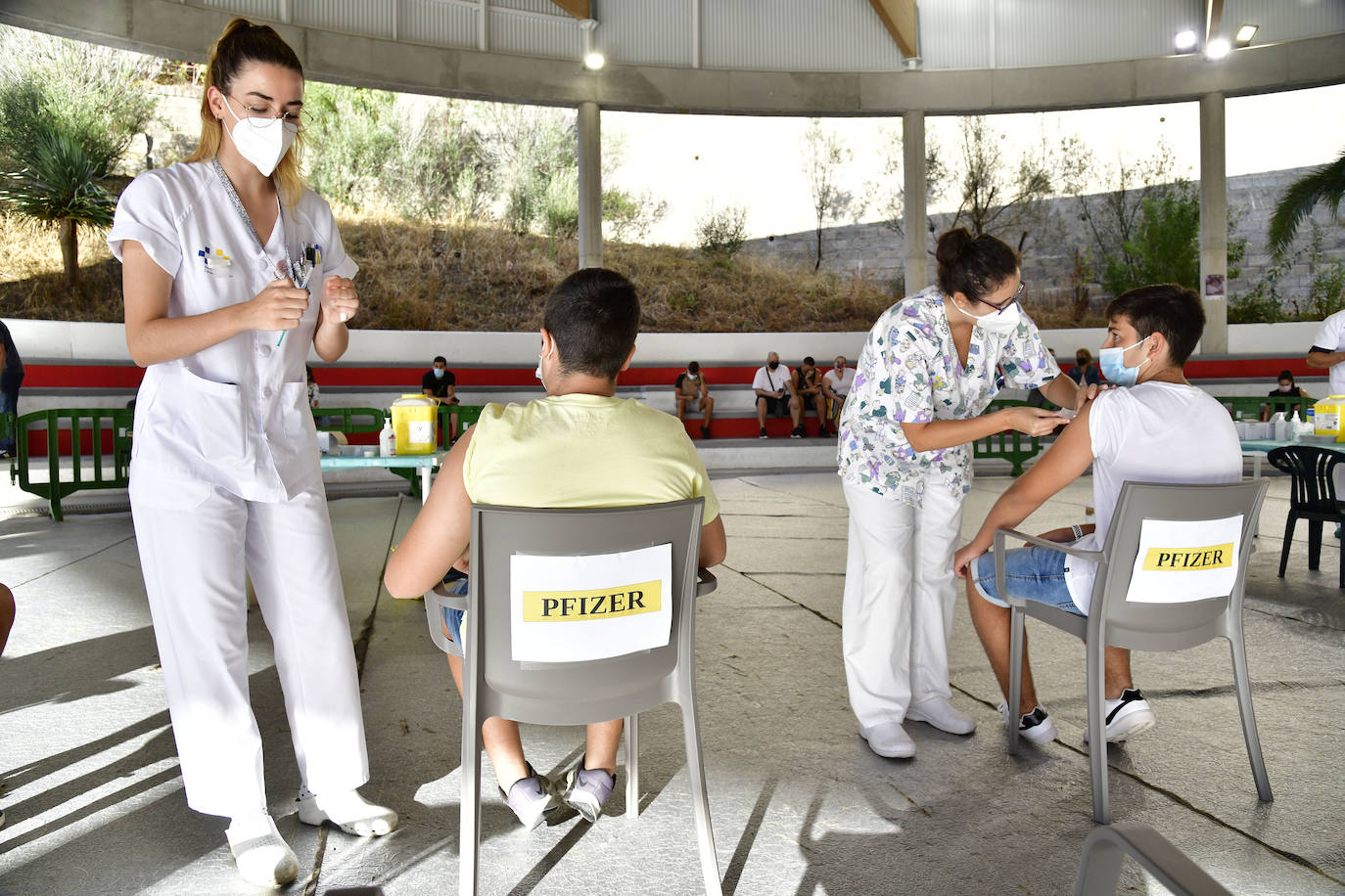 Image of a vaccination center in the capital of Gran Canaria /.  arcadio suárez